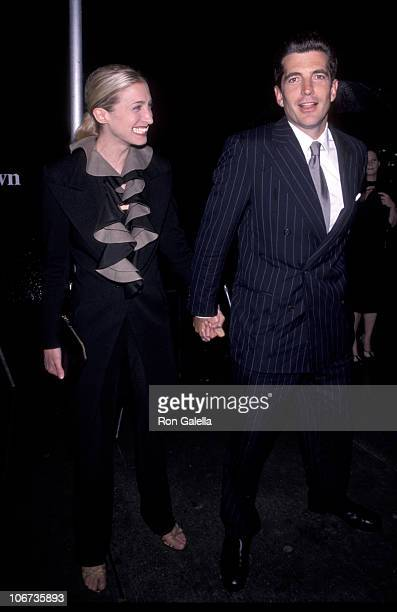 "John F. Kennedy & Carolyn Bessette during ""Newman's Own"" George Awards at U.S. Customs House in New York City, New York, United States."