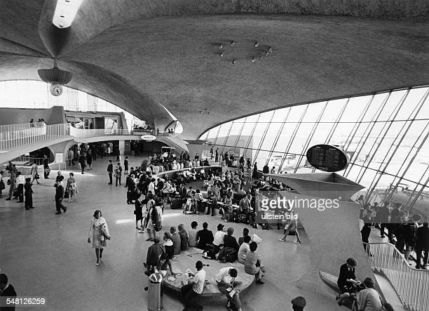 John F Kennedy International Airport JFK here the TWA Flight Center terminal 5 designed by Eero Saarinen 1969