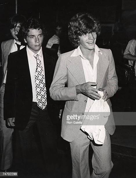 John F Kennedy Jr and Anthony Radziwill at the Rainbow Room in New York City New York