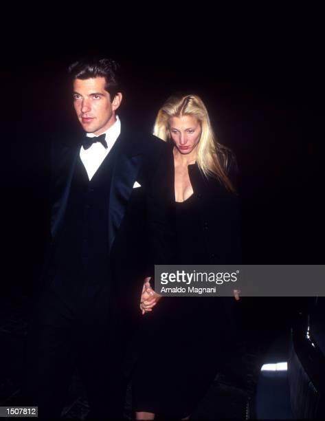 John F Kennedy Jr and Caroline Bessette in NYC New York November 3 1996