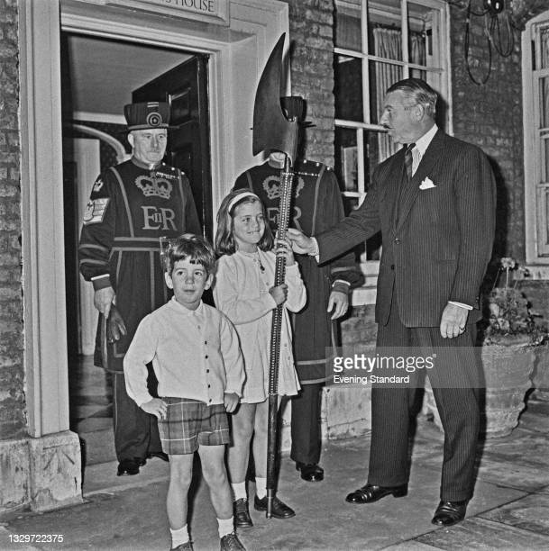 John F. Kennedy Jr. And Caroline Kennedy, the children of former US President John F. Kennedy, visit the Tower of London during a trip to the UK,...