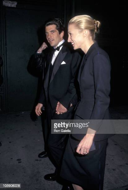 John F Kennedy Jr and Carolyn Bessette during Jacqueline Kennedy Onassis Medal to Robert DeNiro at Municipal Art Society in New York City New York...