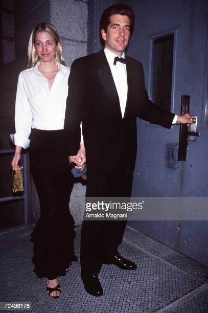 FILE PHOTO John F Kennedy Jr and wife Carolyn Bessette Kennedy return to their New York City apartment March 9 1999 after an evening out July 16 2000...