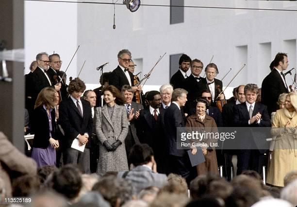 John F Kennedy Jr Caroline Kennedy Jackie Onassis Lady Bird Johnson Ted Kennedy Joan Kennedy President Jimmy Carter and Stephen Edward Smith