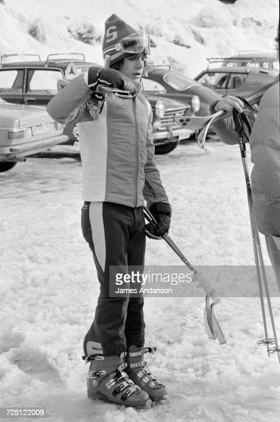 John F Kennedy Jr during a holiday at the CranssurSierre ski resort in Switzerland 27th December 1974