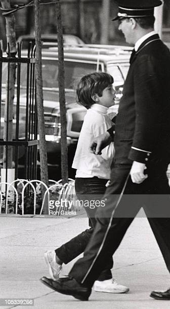 John F Kennedy Jr during Kennedy Family Sightings June 1 1971 at 5th Avenue Apartment in New York City New York United States