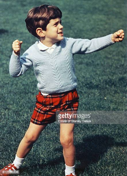 John F Kennedy Jr elder son of former American President John F Kennedy and First Lady Jacqueline Lee 'Jackie' Bouvier holding up his fists and ready...