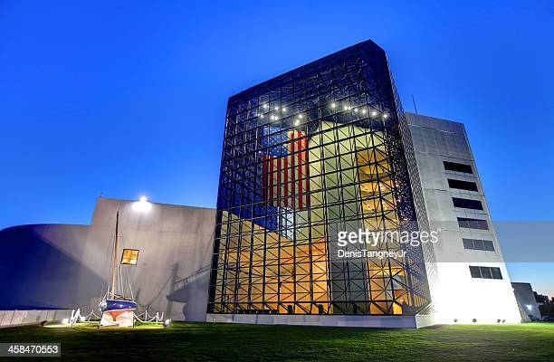 john f. kennedy presidential library and museum - john f. kennedy library stock photos and pictures