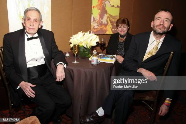 John F Nash Jr Alicia Nash and John C Nash attend COLD SPRING HARBOR LABORATORY Double Helix Medal Dinner at Mandarin Oriental on November 9 2010 in...