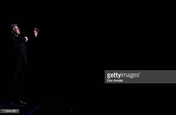 John Farnham performs live on stage at the Lyric Theatre Star City Casino on September 3 2009 in Sydney Australia