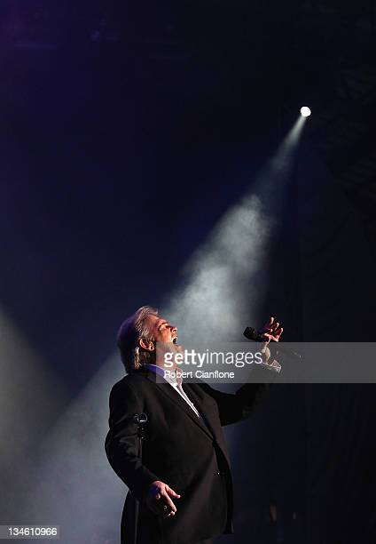 John Farnham performs on stage as part of the Race By Day Rock All Night Concert series at the ANZ Stadium on December 3 2011 in Sydney Australia