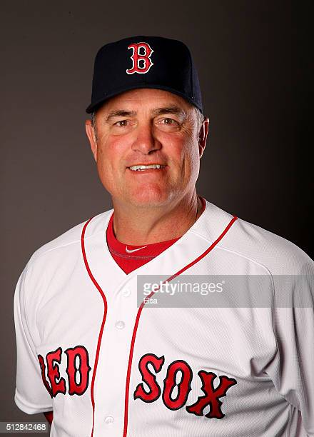 John Farrell of the Boston Red Sox poses for a portrait on February 28 2016 at JetBlue Park in Fort Myers Florida