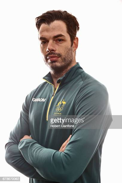 John Farrow poses during a 2018 Australian Winter Olympic Team portrait session at The Icehouse on April 27 2017 in Melbourne Australia