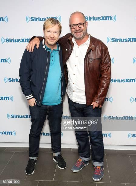 John Fawcett and Graeme Manson visit at SiriusXM Studios on June 6 2017 in New York City
