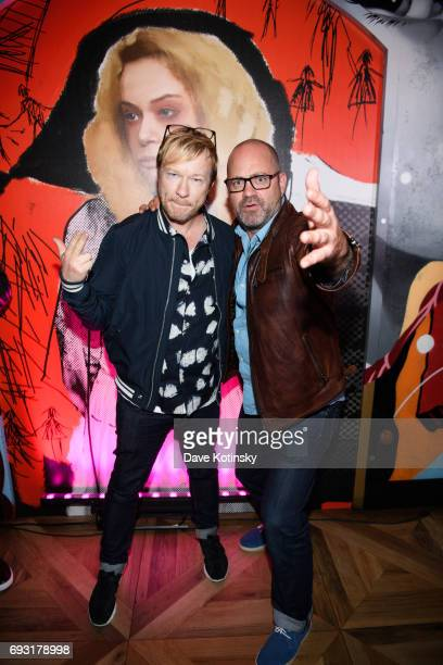 John Fawcett and Graeme Mansonat arrive at BBC AMERICA's Orphan Black Premiere Party at Vandal on June 6 2017 in New York City
