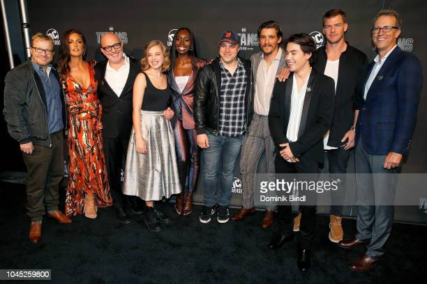 John Fawcett Minka Kelly Akiva Goldsman Teagan Croft Anna Diop Geoff Johns Brenton Thwaites Ryan Potter Alan Ritchson and Greg Walker attend 'Titans'...