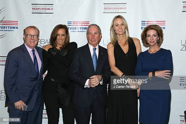 John Feinblatt designer Donna Karan former New York City Mayor Michael R Bloomberg Lise Evans and Shannon Watts Founder of Moms Demand Action for Gun...