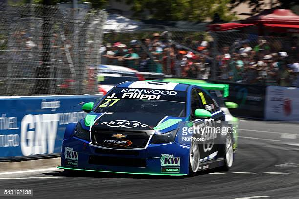 John Filippi in Chevrolet RML Cruze TC1 of Campos Racing in action during FIA WTCC 2016, at Vila Real in Portugal, on June 25, 2016.