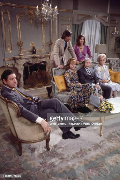 John Fink Anne Lockhart David Ketchum June Lockhart Arthur O'Connell Martha Scott appearing in the ABC tv series 'Honeymoon Suite'
