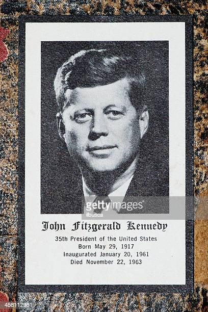 john fitzgerald kennedy funeral prayer obituary card - us president stock pictures, royalty-free photos & images