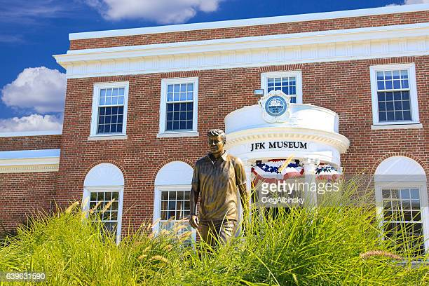 john fitzgerald kennedy (jfk) museum, hyannis, cape cod, massachusetts, usa. - hyannis port stock pictures, royalty-free photos & images