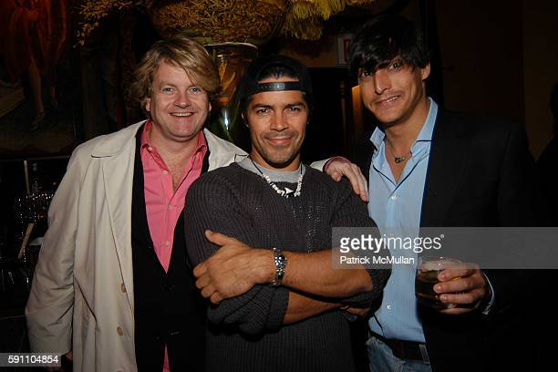 John Flanagan Esai Morales and Adam Shugar attend An Art Deco Supper Dance To Celebrate the Birthday of R Couri Hay and Sam Bolton at Salon on April...