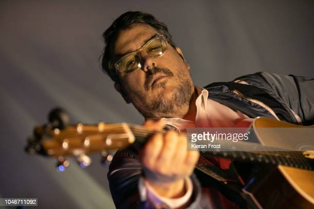 John Flansburgh of They Might Be Giants performs at The Button Factory on October 6, 2018 in Dublin, Ireland.