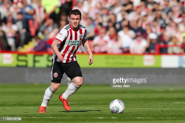 John Fleck of Sheffield United looks for a pass during the Sky Bet Championship match between Sheffield United and Bristol City at Bramall Lane on...