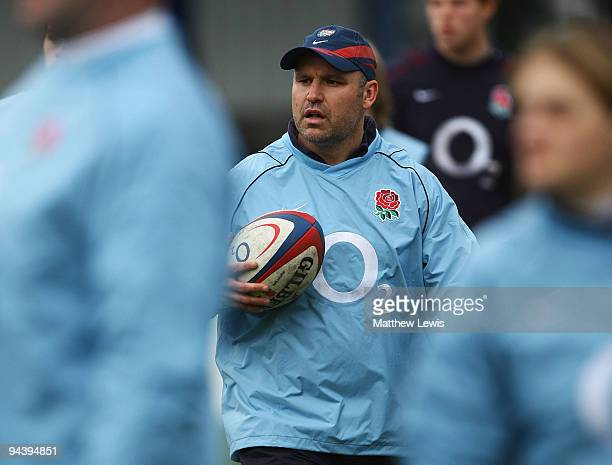 John Fletcher Coach of England in action during the International match between England U18 and Australia Schools at Heywood Road on December 13 2009...