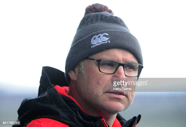 John Fletcher Head Coach of England during the U18 Six Nations Rugby Union Festival match between England and Italy at Cardiff Arms Park on April 4...