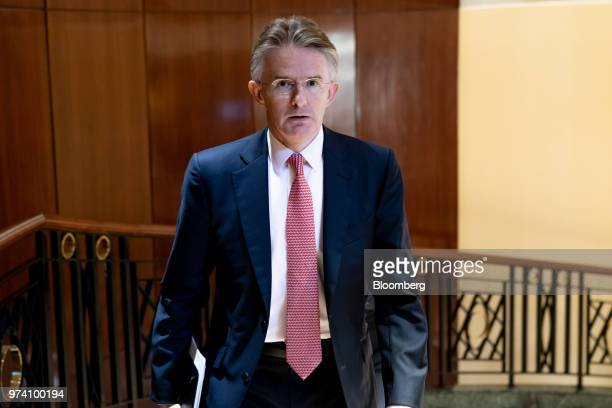 John Flint chief executive officer of HSBC Holdings Plc attends the Green and Social Bond Principles annual general meeting and conference in Hong...