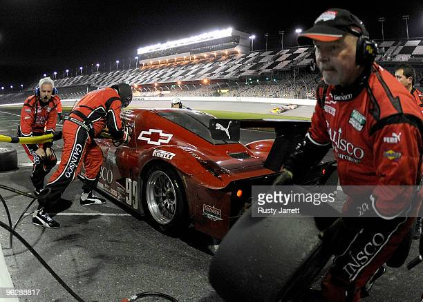 John Fogarty, Alex Gumey, Jimmy Vasser, and Jimmie Johnson during the Grand-Am Rolex 24 at Daytona held at Daytona International Speedway on January...