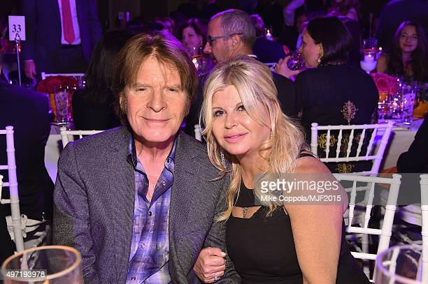 """John Fogerty and Julie Lebiedzinski attend the Michael J Fox Foundation """"A Funny Thing Happened On The Way To Cure Parkinson's"""" Gala at The..."""