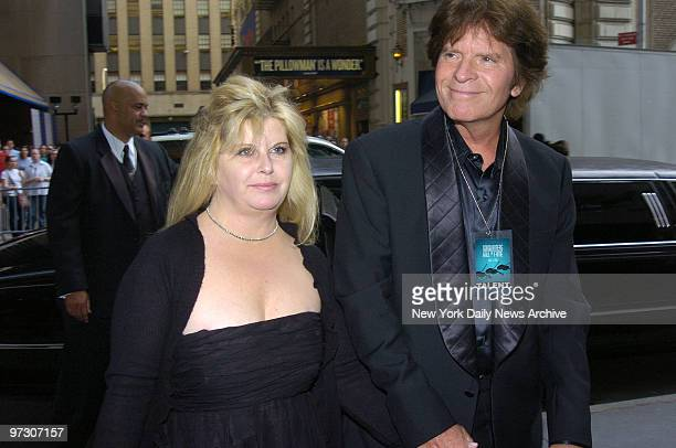 John Fogerty and wife Julie arrive for the 36th Annual Songwriters Hall of Fame awards and induction ceremony at the New York Marriott Marquis hotel...