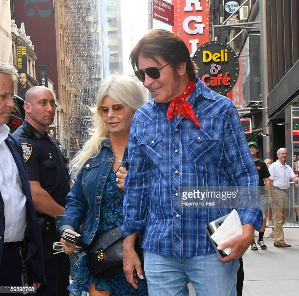 John Fogerty and wife Julie Lebiedzinski are seen outside Good Morning America on August 5 2019 in New York City