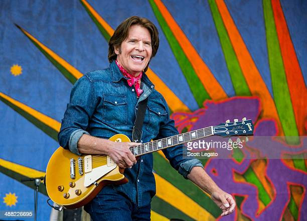 John Fogerty performs during the 2014 New Orleans Jazz Heritage Festival at Fair Grounds Race Course on May 4 2014 in New Orleans Louisiana
