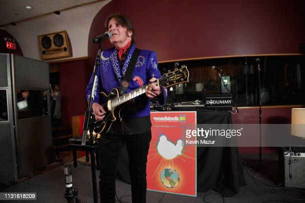 John Fogerty performs on stage at the announcement of the Woodstock 50 Festival LineUp at Electric Lady Studio on March 19 2019 in New York City