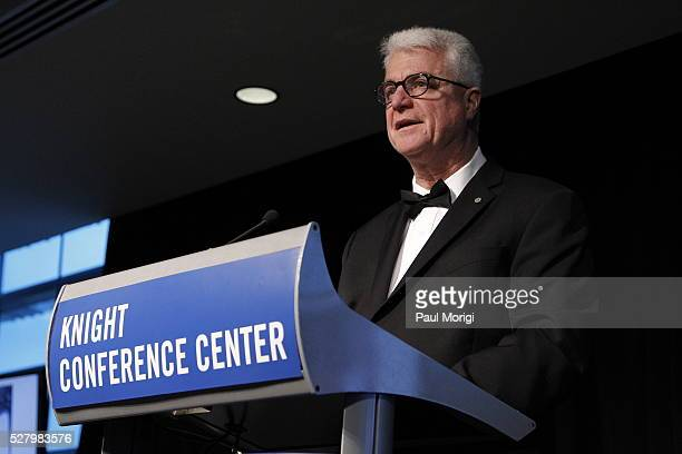 John Foley of the James W Foley Legacy Foundation speaks at the James W Foley Freedom Awards at The Newseum on May 3 2016 in Washington DC The James...