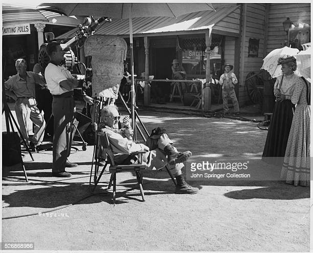 John Ford during the filming of The Sun Shines Bright