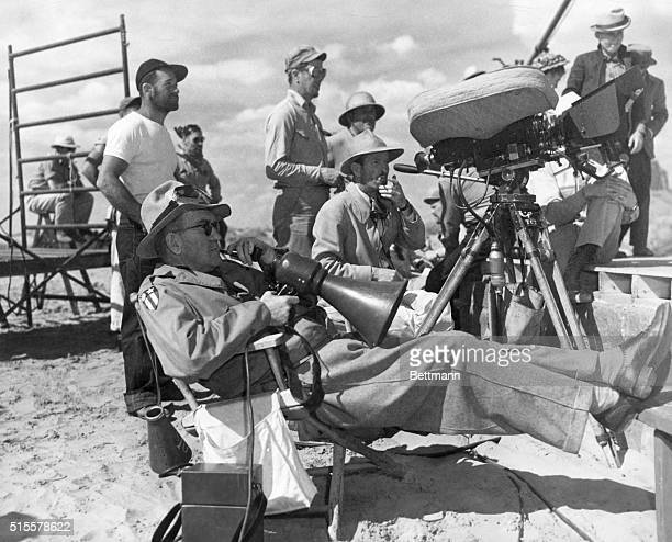 John Ford filming My Darling Clementine Monument Valley Arizona Undated b/w photograph