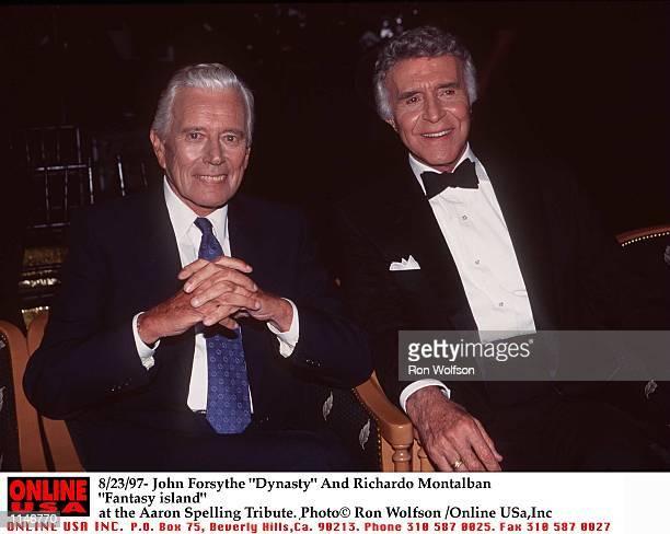 8/97/ John Forsythe Dynasty and Richardo Montalban Fantasy Islandat the Aaron Spelling Tribute