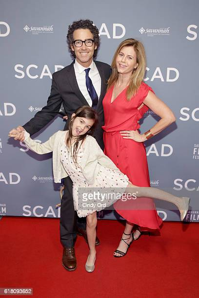 John Fortson Abby Ryder Fortson and Christie Lynn Smith attend the Miles Teller Vanguard Award Presentation during the 19th Annual Savannah Film...