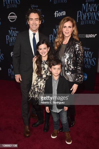John Fortson Abby Ryder Fortson Christie Lynn Smith and Joshua Taylor Fortson attend Disney's 'Mary Poppins Returns' World Premiere at the Dolby...