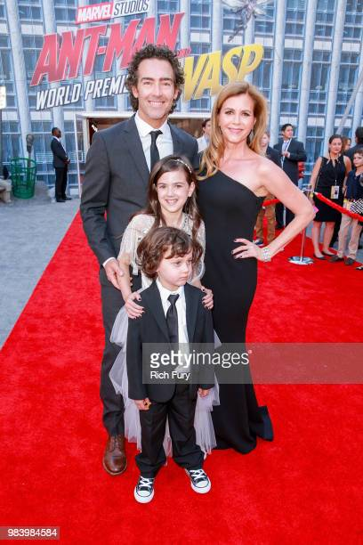 John Fortson Christie Lynn Smith Abby Ryder Fortson and Joshua Fortson attend the premiere of Disney And Marvel's 'AntMan And The Wasp' on June 25...