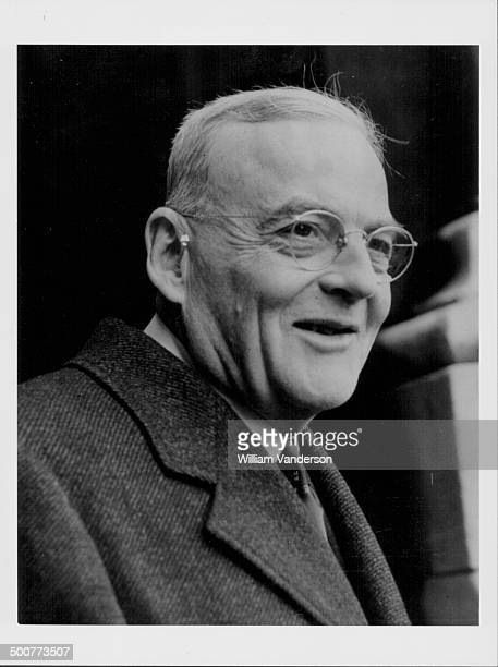 John Foster Dulles, US Secretary of State, arriving at the Foreign Office in London, February 4th 1953.