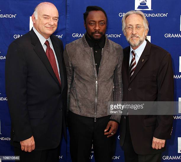 John Frankenheimer recording artist William from The Black Eyed Peas and Neil Portnow attend The GRAMMY Foundation's 13th annual entertainment law...