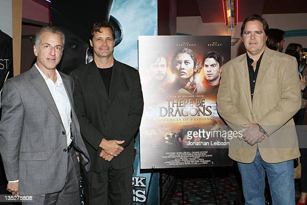 John Franklin Dean Hamilton and Jim Townsend attend the There Be Dragons Secret Of Fashion Los Angeles Screening on December 7 2011 in Marina del Rey...