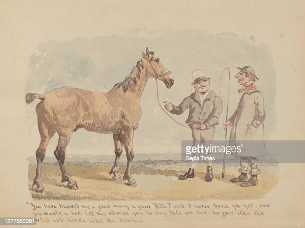 John Frederick Herring, Sr., British, 1795–1865, 12. 'You have knowed me a good many year...', 1805–1865, Watercolor over pencil on paper, Overall:...