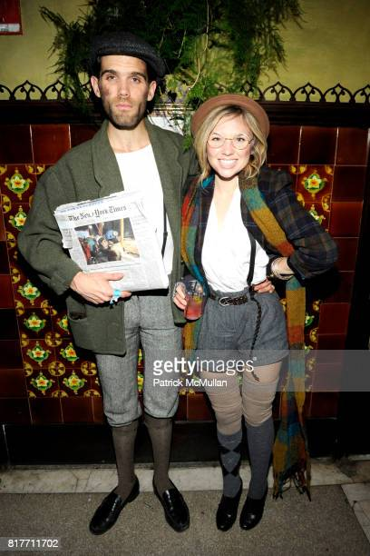 John Fredericks and Karly Grawin attend THE SMILE and KANON ORGANIC VODKA Halloween 2010 at The Jane Hotel on October 30 2010 in New York City