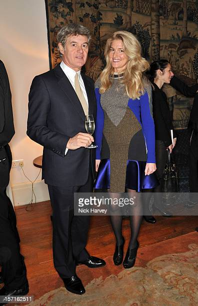 John Frieda and Avery Agnelli attend a catwalk show and auction hosted by Browns Harpers Bazaar and HE Alain Giorgio Maria Economides in aid of Women...